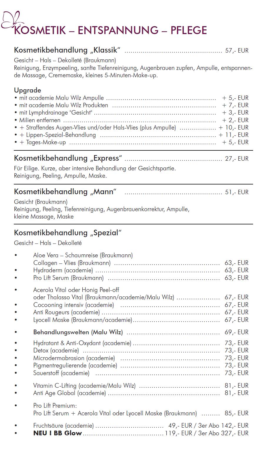 Preisliste Seite 1